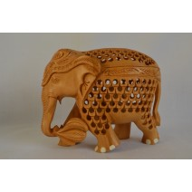 Handcrafted Wooden Carved Elephant